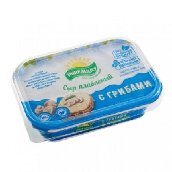 Молочный изделия Плавленный Сыр С Грибами Pure Milky  200гр