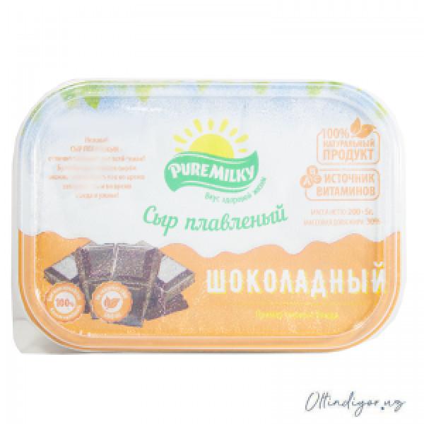 Молочный изделия Плавленный Сыр Шоколадный Pure Milky 200гр