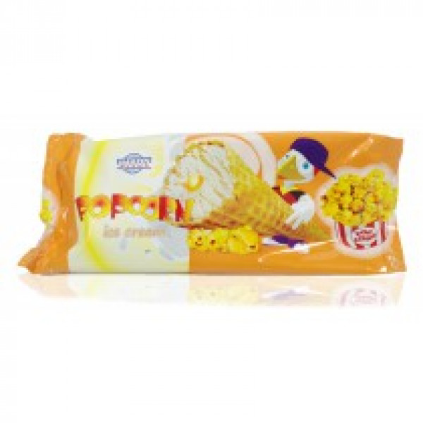 IMKON PLUS Popcorn Мороженое со вкусом Попкорна в Вафельном Конусе, 120г