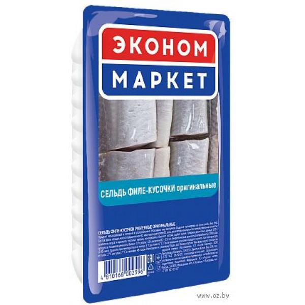 """Филе-кусочки сельди """"Эконом Маркет"""" 400гр"""